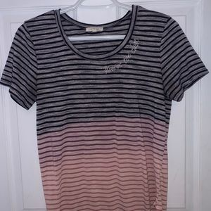 """Maurices Striped T-Shirt says """"your to close"""""""